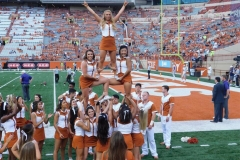 Abby L UT Cheer 3 level stunt