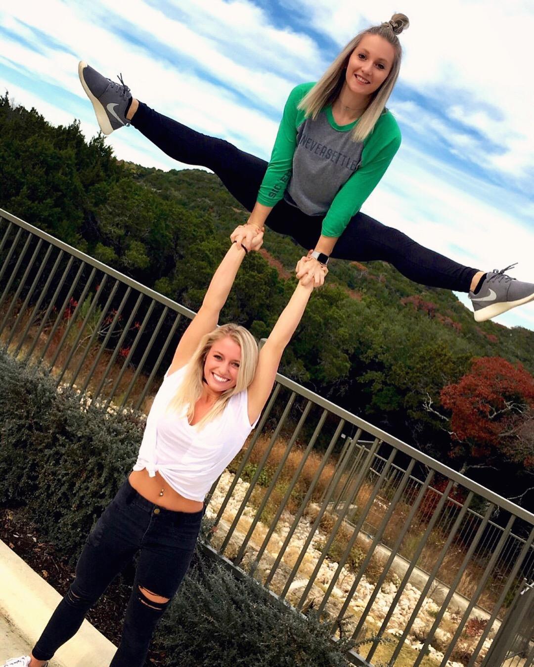 Allie Kaylee hand to hand straddle stunt 2017