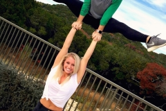 Allie Kaylee hand to hand straddle stunt 2017